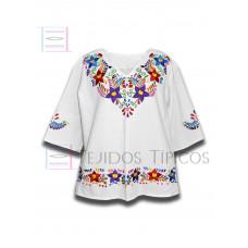 Blouse Colorín made of Cotton Color White, Size Medium
