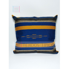 Fine Cotton Cushion Oil and Gold Background