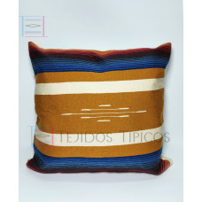 Fine Cotton Cushion Gold and Bone Background