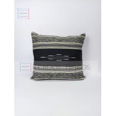 Fine Cotton Cushion Gray Background Shade Bone Marbled