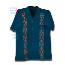Cervantes Petrol Color Shirt Size XL Short Sleeve