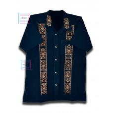 Cervantes Navy Blue Color Shirt Size XL Short Sleeve