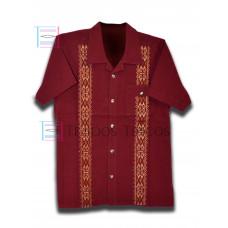 Cervantes Wine Color Shirt Size XL Short Sleeve