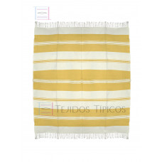 Natural and Yellow Cotton Tablecloth 1.50 x 1.50 mts