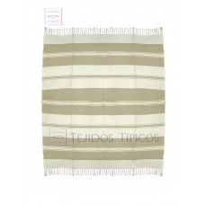 Natural and Beige Cotton Tablecloth 1.50 x 1.50 mts