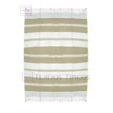 Natural and Beige Cotton Tablecloth 1.50 x 2.00 meters