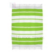 Natural and Lemon Green  Cotton Tablecloth 1.50 x 2.00 mts