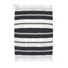 Natural and Black Cotton Tablecloth 1.50 x 2.00 mts