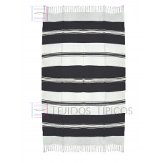 Natural and Black Cotton Tablecloth 1.50 x 2.50 mts