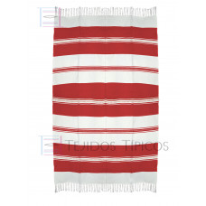 Natural and Red Cotton Tablecloth 1.50 x 2.50 mts