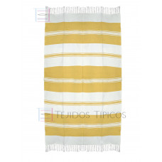 Natural and Yellow Cotton Tablecloth 1.50 x 3.00 mts