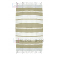 Natural and Beige Cotton Tablecloth 1.50 x 3.00 mts