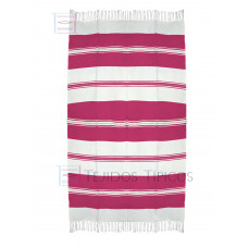 Natural and Pink Cotton Tablecloth 1.50 x 3.00 mts