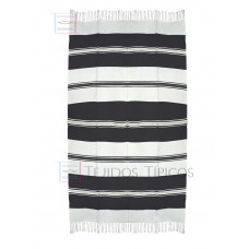 Natural and Black Cotton Tablecloth 1.50 x 3.00 mts