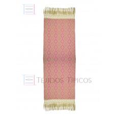 Handmade Shawl Beige Base Pink Weft 75 cm x 2.00 meters