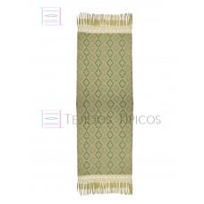 Handmade Shawl Beige Base Green Weft 75 cm x 2.00 meters