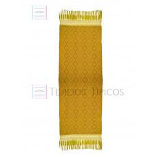 Handmade Shawl Gold Base Brown Weft 75 cm x 2.00 meters