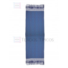 Handcrafted Rebozo Base Oil Weft blue color King 75 cm x 2.00 meters