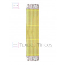 Yellow Striped Cotton Shawl 60 cm x 2.00 meters