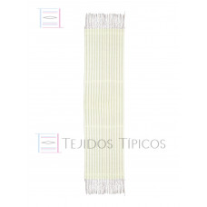 White Striped Cotton Shawl 60 cm x 2.00 meters