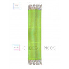 Lemon Green Striped Cotton Shawl 60 cm x 2.00 meters