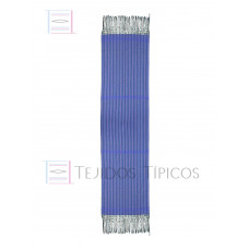 King Blue Striped Cotton Shawl 60 cm x 2.00 meters