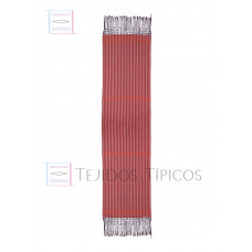 Red Striped Cotton Shawl 60 cm x 2.00 meters