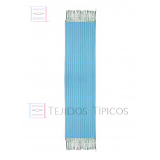 Turquoise Striped Cotton Shawl 60 cm x 2.00 meters