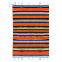 Large Acrylic Saltillo 1.50 x 2.20 meters Orange Color