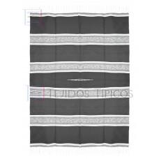 Fine Cotton Saltillo, Marbled, 1.65 x 2.20 meters, Dark Gray Background Bone Shadow