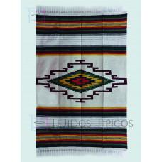 Blanket of cotton Hook Design Background Bone Shadow Greens 1.65 x 2.50 m