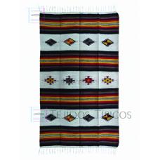 Medium Cotton blanket Size 1.30 x 2.00 m Design small diamonds Natural background Shade Cafe