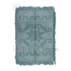 rug of cotton medium size an a star design in a Light Grey color