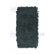 rug of cotton small size an a star design in a Dark Grey color