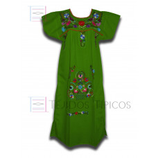 Multicolor Embroidered Dress Green Flag, standard size