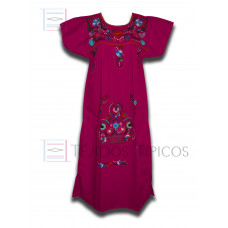 Fiusha Pink Multicolor Embroidered Dress, standard size