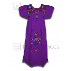 multicolor embroidered dress, standar size.