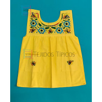 Julia model girl's embroidered dress, Color Yellow, Size 2.